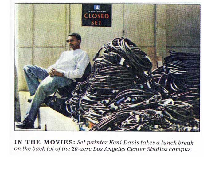 'LA Times' newspaper article during filming the popular television series, 'Mad Men'.